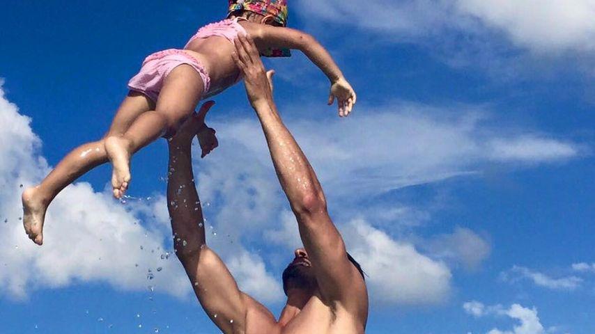 Salvatore Greco und Tochter Luana 2016 auf einem privaten Urlaubsbild