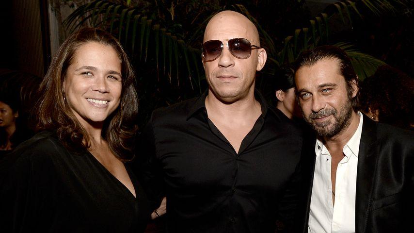 Samantha Vincent mit Bruder Vin Diesel