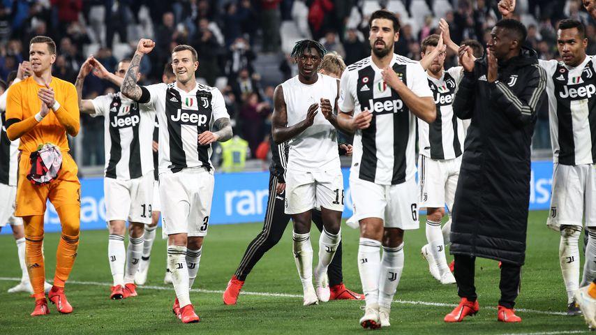 Sami Khedira und seine Mannschaftskollegen von Juventus Turin