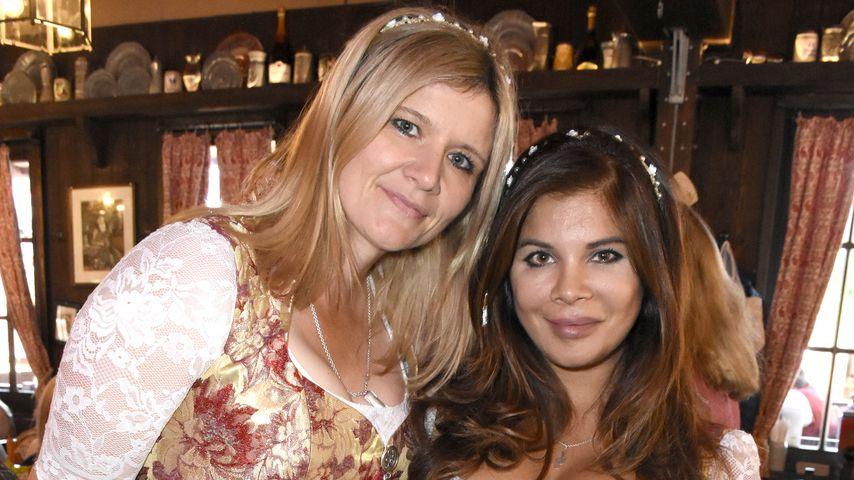 Sandra Kiriasis und Indira Weis beim 3. Wiesn Charity Lunch im Festzelt Zur Bratwurst