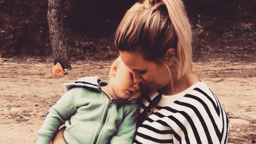 Sandra Scheack mit ihrem Sohn Finley Max