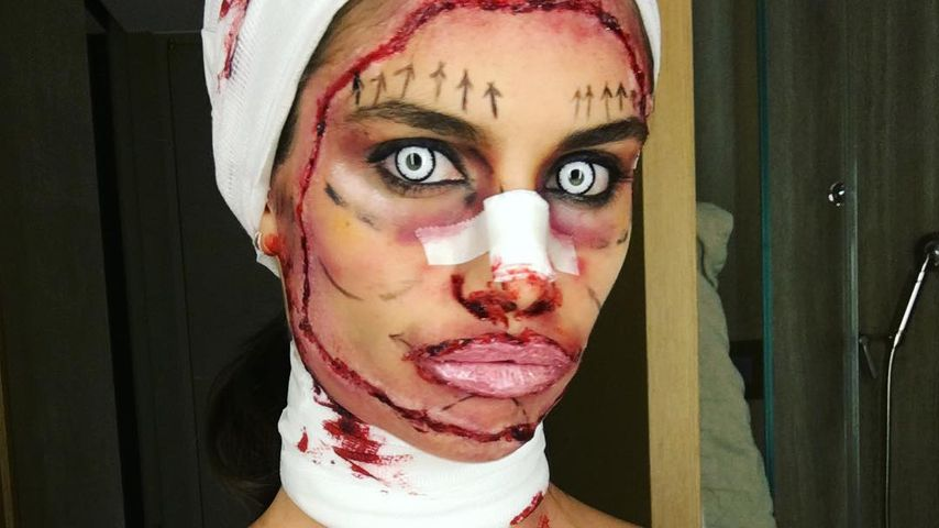 Blutiges Beauty Op Kostum Teilt Vs Engel Sara Sampaio Aus