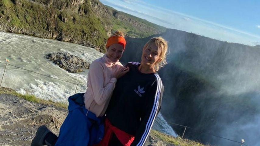 Sarah Connor (rechts) und ihre Schwester Marisa im Juli 2020
