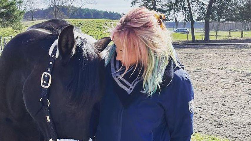 Sarah Connor und ihr Pferd Macho