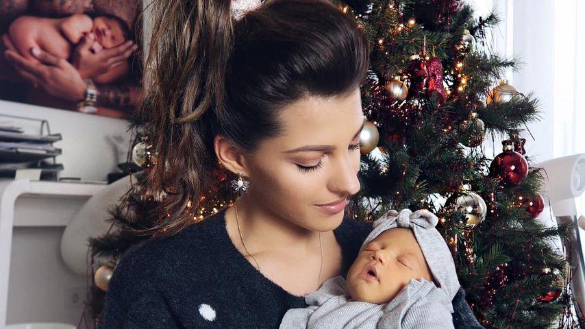 Sarah Harrison mit ihrem Töchterchen Mia Rose