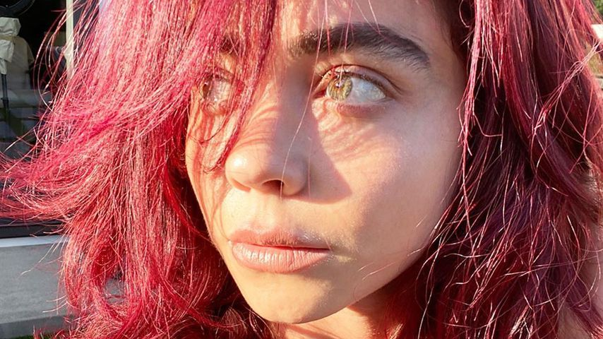 Wie Ashley Benson trägt Sarah Hyland jetzt ihre Haare pink