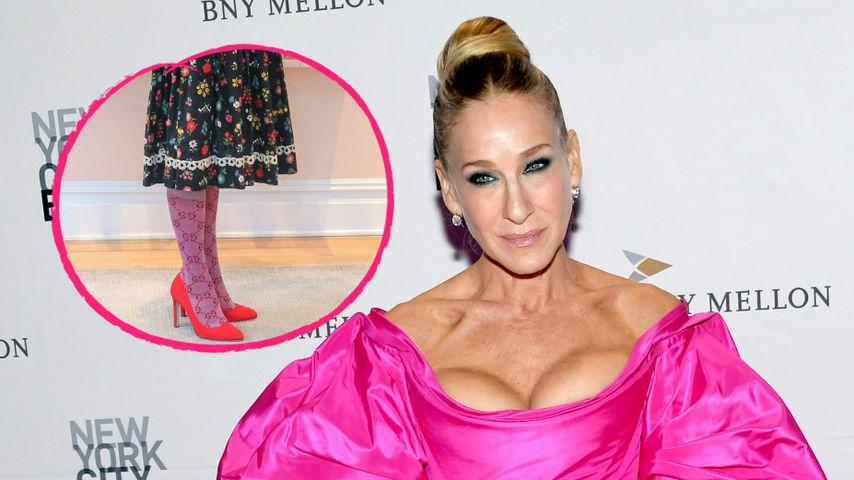 Stylisch? Sarah Jessica Parker in Designer-Socken und Dirndl