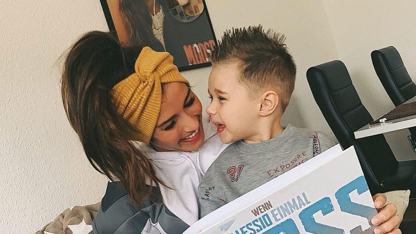 Sängerin Sarah Lombardi mit Sohn Alessio