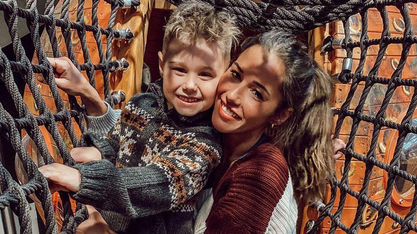Sarah Lombardi mit ihrem Sohn Alessio, Januar 2020