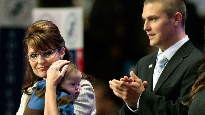Sarah Palin und ihre Söhne Trig und Track