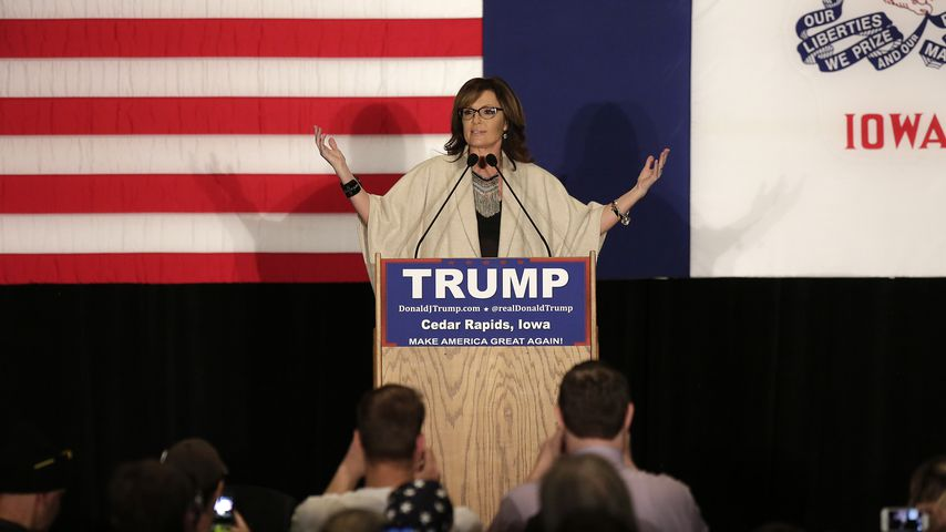 Sarah Palin bei einer Kampagne in Cedar Rapids im Februar 2016
