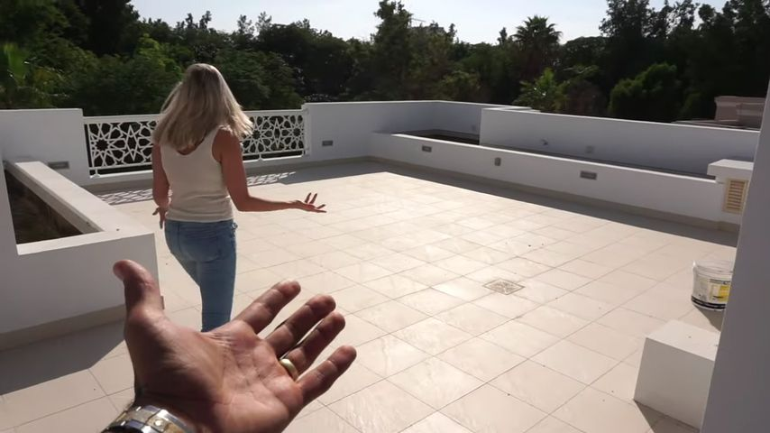 Sarah und Dominic Harrisons Dachterrasse
