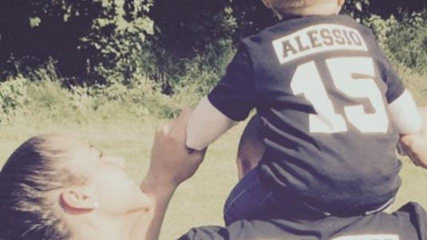 Süßer Family-Look: Sarah, Pietro & Alessio im Fußball-Fieber