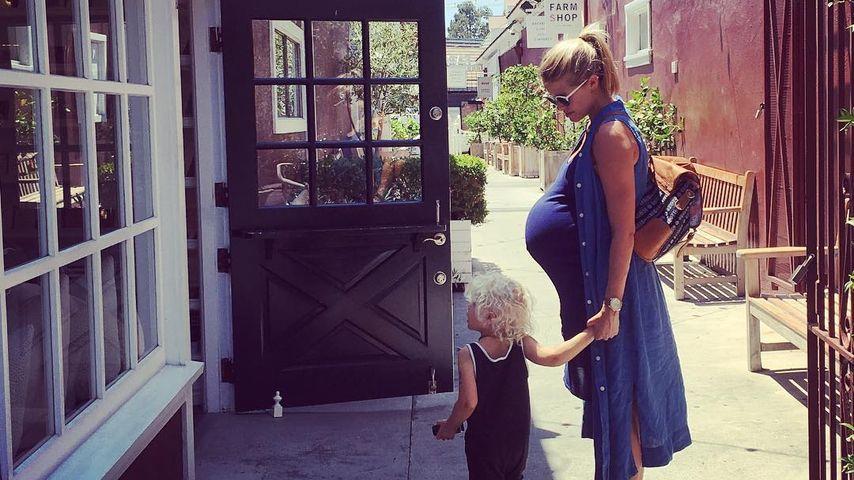 Sarah Wright mit ihrem Sohn Wyatt Oliver