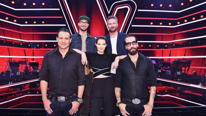 """Sascha Vollmer, Mark Forster, Yvonne Catterfeld, Sasha und Alec Völkel bei """"The Voice Senior"""""""