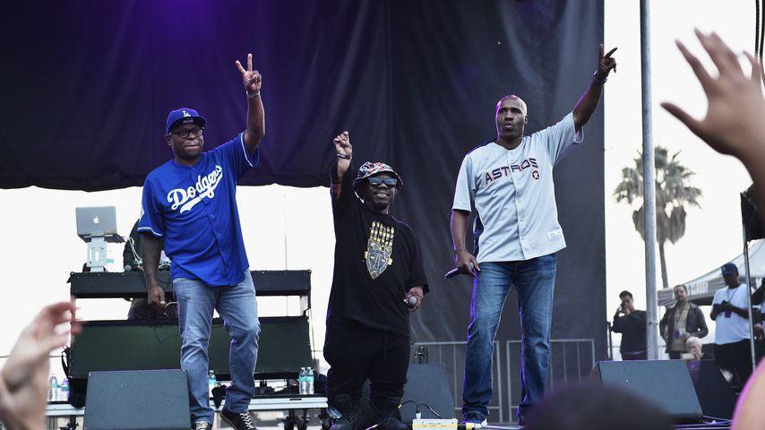 Scarface, Bushwick Bill and Willie D bei einem Auftritt im Oktober 2017