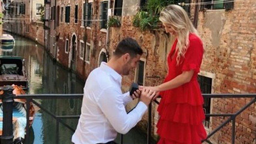 Bloggerin Scarlett London mit ihrem Verlobten David Mitchell in Venedig, August 2019