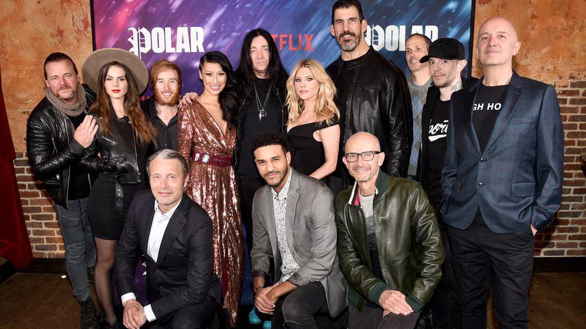 """Schauspieler und Produktionsteam von """"Polar"""" bei der Premiere in New York"""