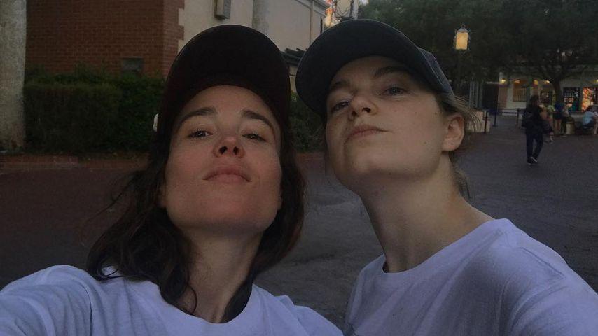 Schauspielerin Ellen Page und Emma Portner