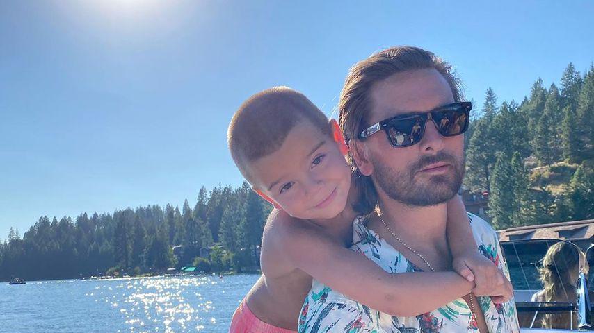 Scott Disick und Sohn Reign genießen das Wetter auf dem See Coeur d'Alene