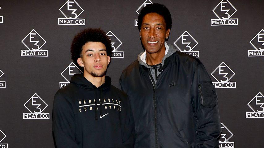 NBA-Spieler Scottie Pippen und sein Sohn Scottie Jr