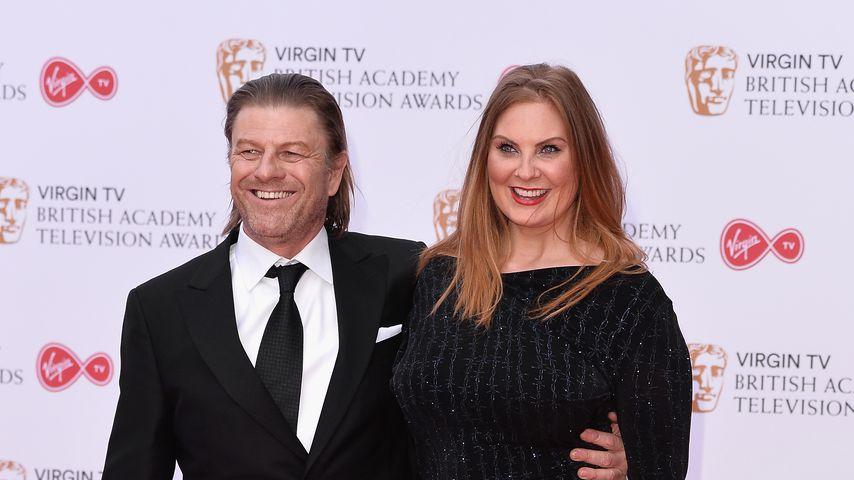 Sean Bean mit seiner Frau Ashley Moore bei den Virgin TV BAFTA Television Awards 2017