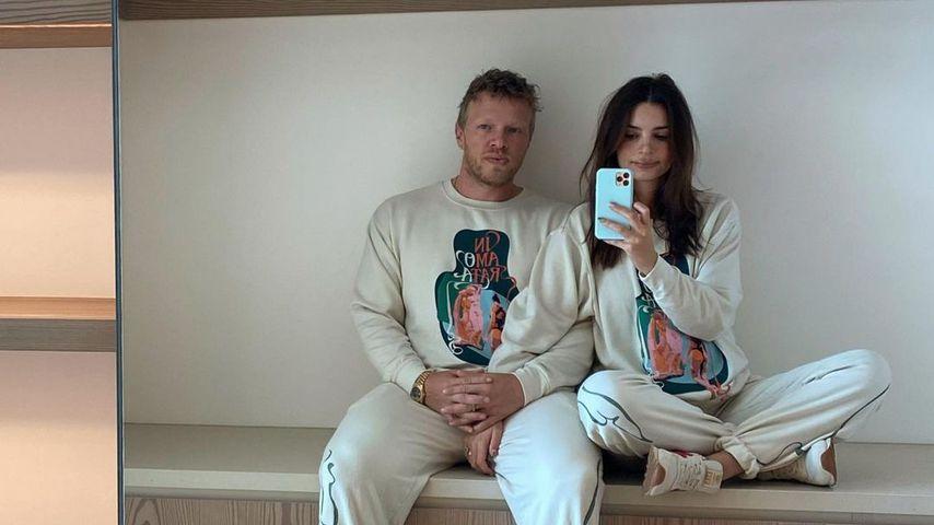 Sebastian Bear-McClard und Emily Ratajkowski im Dezember 2020