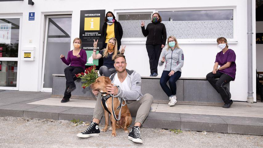 Sebastian Preuss im Münchner Tierheim