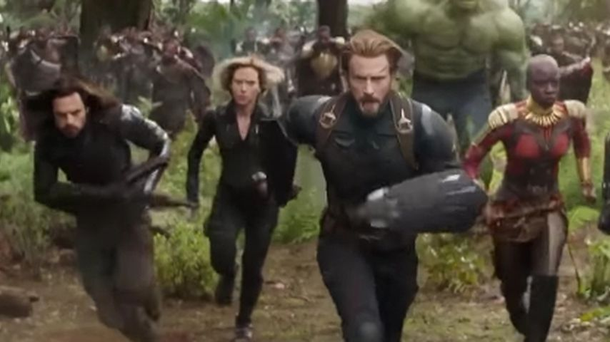 "Sebastian Stan, Scarlett Johansson und Chris Evans in ""The Avengers: Infinity War"""