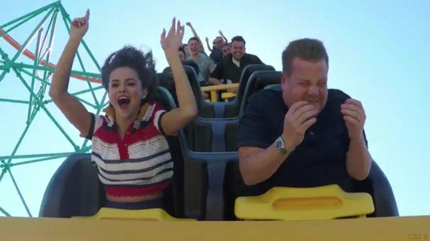 Achterbahnsause: Selena Gomez feiert rasantes Carpool-Debüt