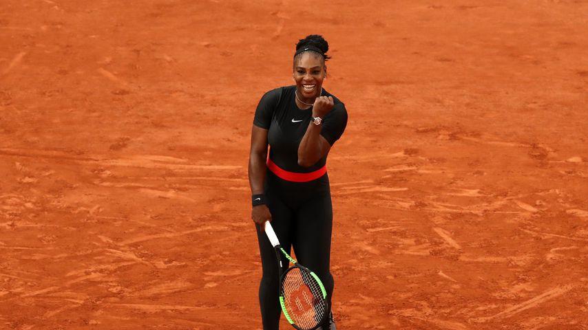 Tennis-Profi Serena Williams bei den French Open 2018 in Paris