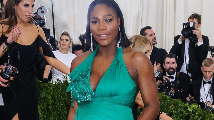 Da ist die Babykugel: Serena Williams bei der Met Gala 2017