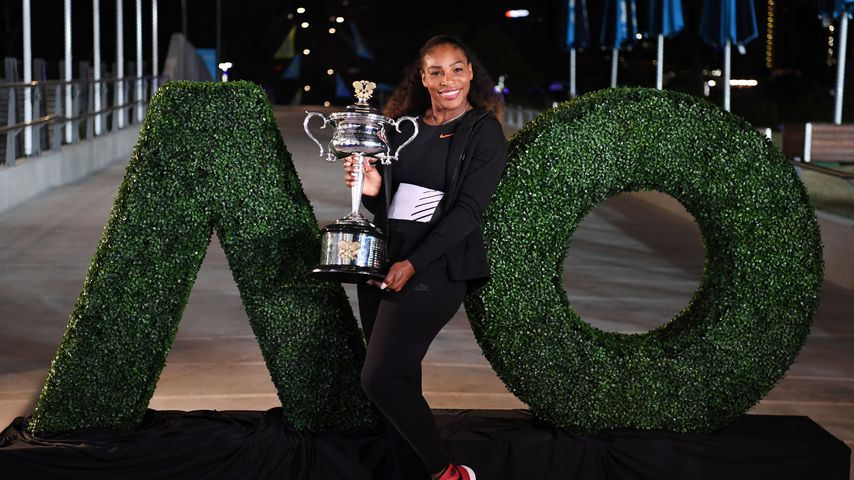 Serena Williams nach ihrem Sieg bei den Australian Open