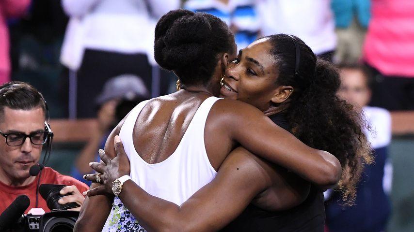 """Serena Williams und ihre Schwester Venus Williams, """"BNP Paribas Open"""", März 2018"""