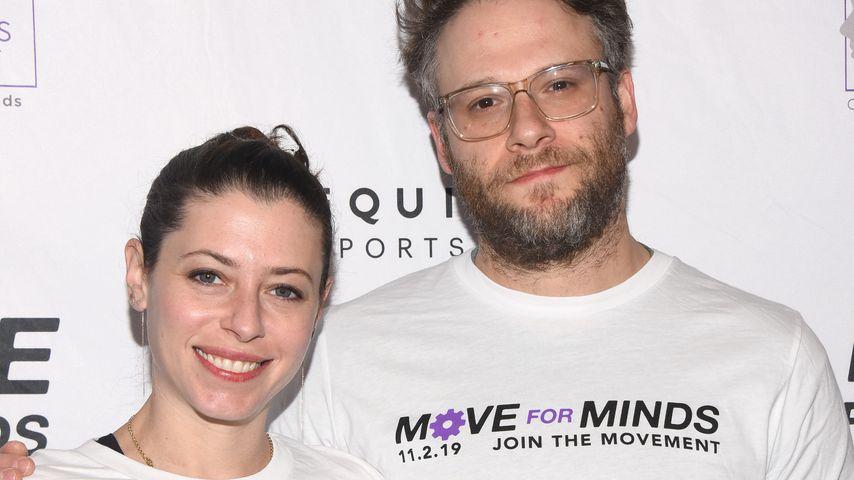 Seth Rogen mit seiner Frau Lauren, November 2019