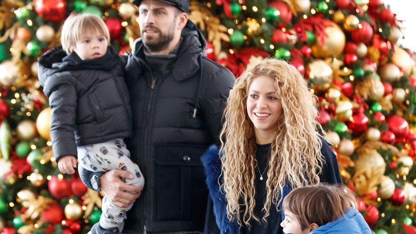 Gerard Piqué, Shakira und ihre Söhne in New York