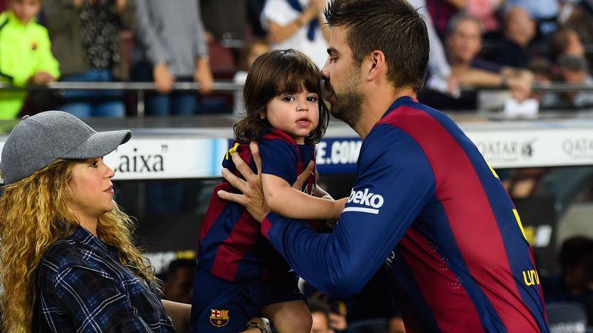 Shakira, Gerard Piqué und Milan Piqué Mebarak