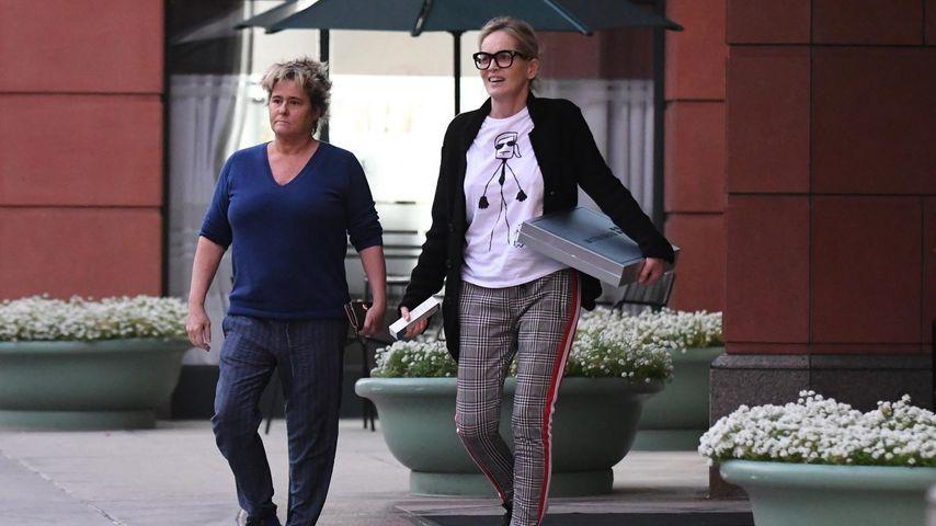 Sharon Stone beim Einkaufen in Beverly Hills
