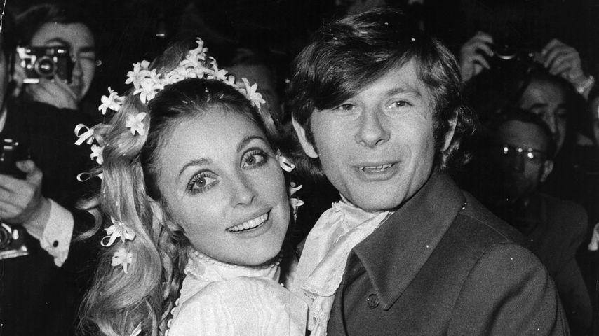 Sharon Tate und Roman Polanski auf ihrer Hochzeit im Jahr 1968