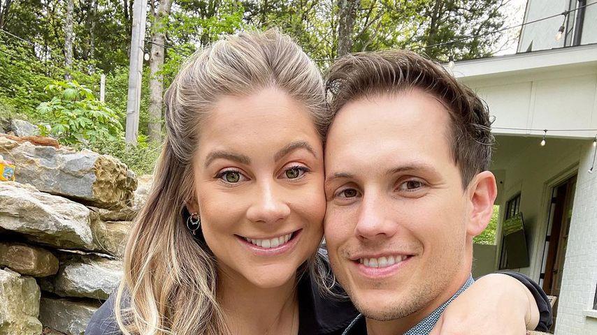 Shawn Johnson East mit ihrem Mann Andrew im April 2021