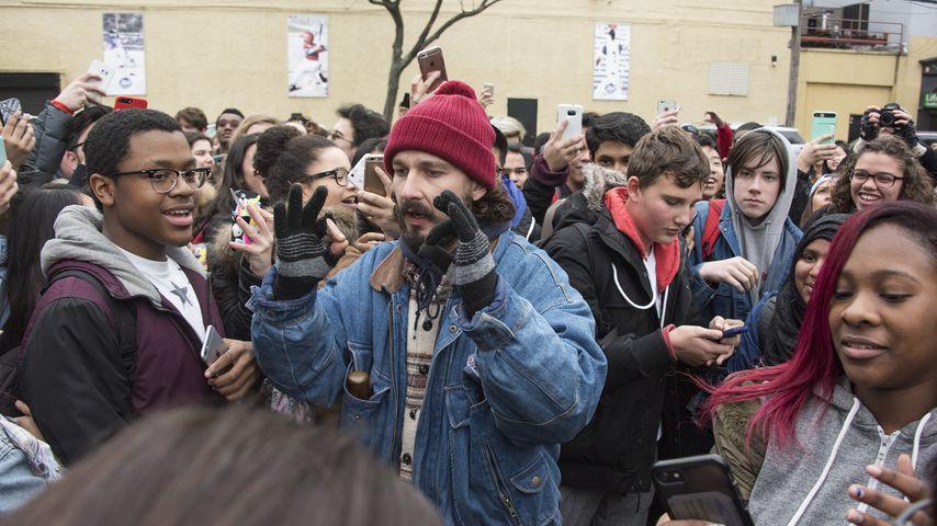 Bei Anti-Trump-Demo: Shia LaBeouf im Livestream verhaftet!