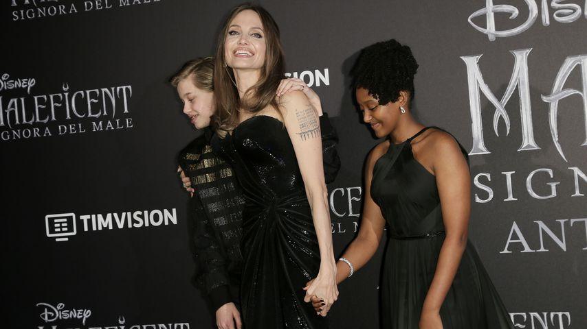 Shiloh Jolie-Pitt, Angelina Jolie und Zahara Jolie-Pitt
