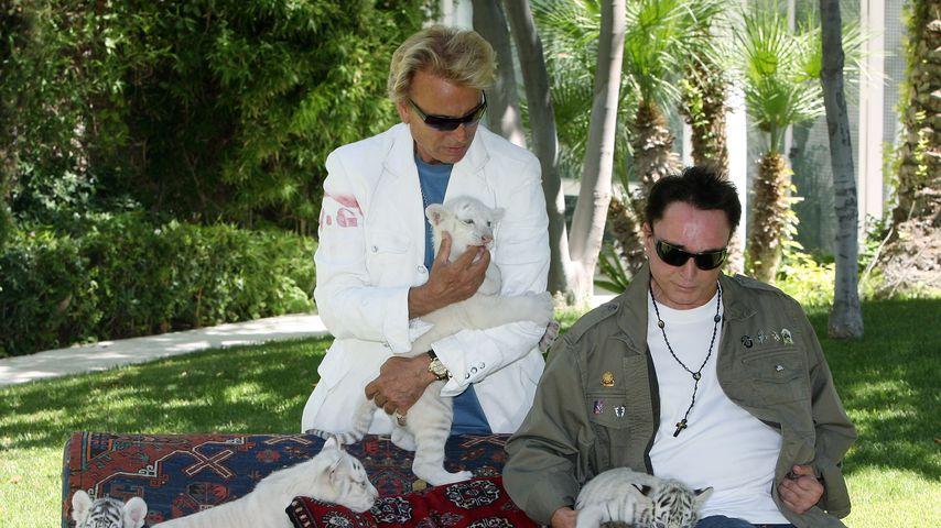 Siegfried Fischbacher and Roy Horn im Juni 2008 in Las Vegas