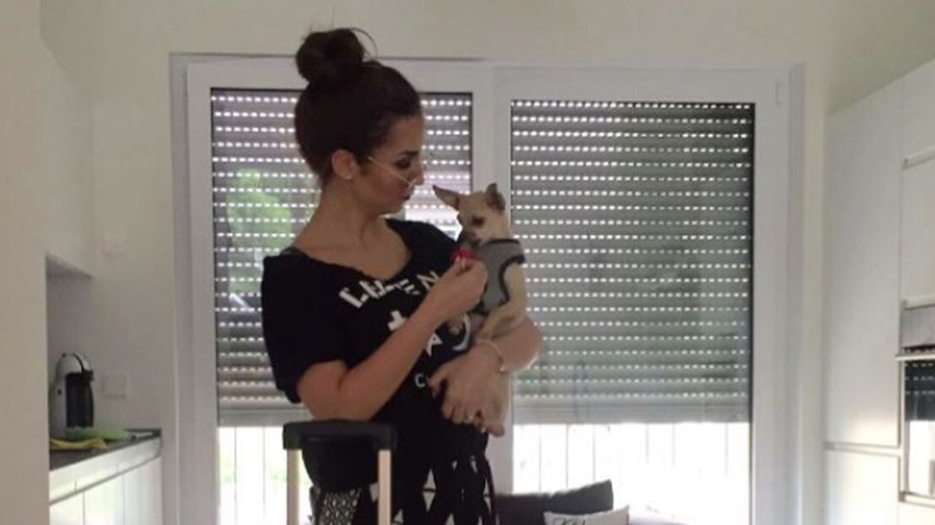 Sila Sahin mit ihrem Hund 2016