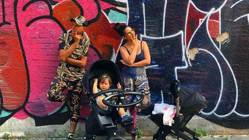 Cooler Familienausflug: Sila Sahin mit ihren Jungs unterwegs
