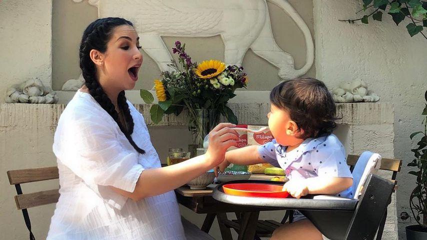 Sila Sahin und ihr Sohn Elija im Juni 2019