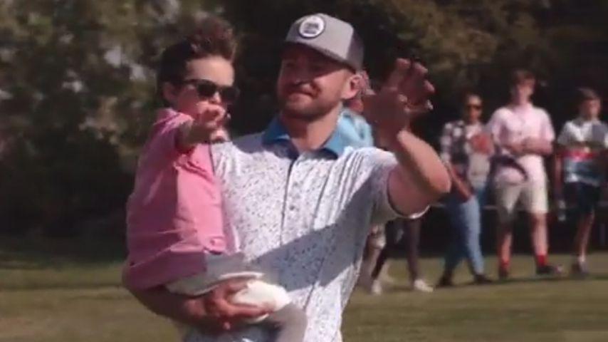 Silas und Justin Timberlake im April 2019 in Ridgedale, Missouri