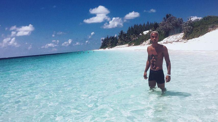 Simon Desue auf den Bahamas