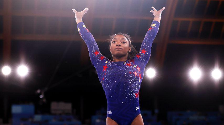 Simone Biles bei den Olympischen Spielen in Tokio im Juli 2021