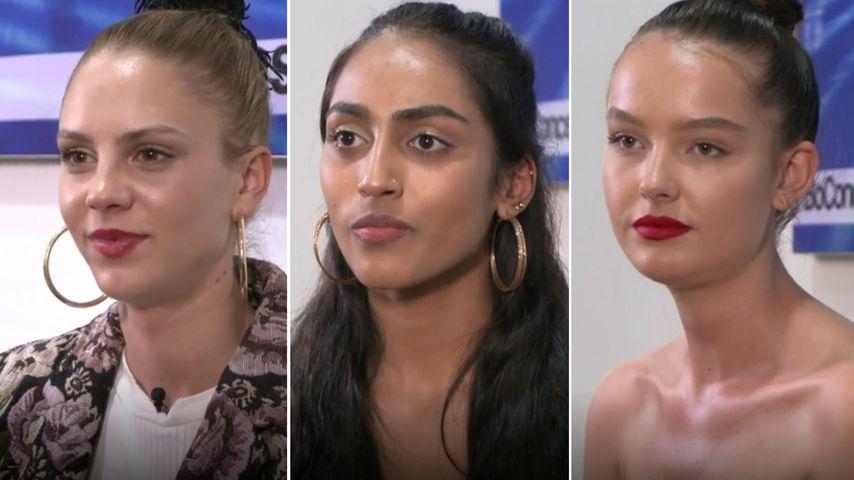 Collage: Simone, Sayana und Cäcilia, GNTM-Finalistinnen 2019